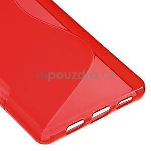 Červený S-line gelový obal na Huawei Ascend P8 Lite - 5