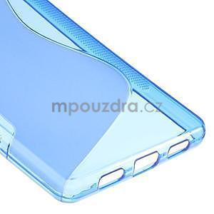 Modrý S-line gelový obal na Huawei Ascend P8 Lite - 5