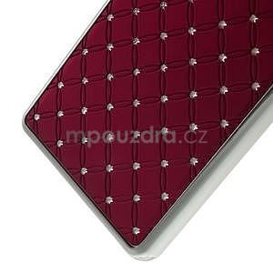 Drahokamový plastový obal na Huawei Ascend P8 Lite - červený - 5