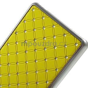 Drahokamový plastový obal na Huawei Ascend P8 Lite - žlutý - 5