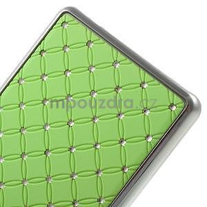 Drahokamový plastový obal na Huawei Ascend P8 Lite - zelený - 5