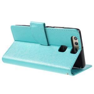 Crossy peněženkové pouzdro na Huawei P9 - modré - 5