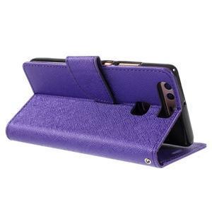 Crossy peněženkové pouzdro na Huawei P9 - fialové - 5