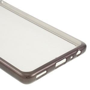 Stylový gelový obal s šedým lemem na Huawei P9 - 5
