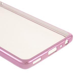 Stylový gelový obal s růžový lemem na Huawei P9 - 5