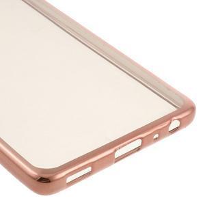 Stylový gelový obal s růžovozlatým lemem na Huawei P9 - 5