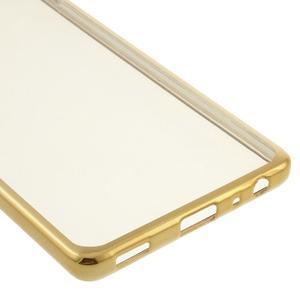 Stylový gelový obal se zlatým lemem na Huawei P9 - 5