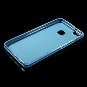 Matný gelový obal na mobil Huawei P9 lite - modrý - 5