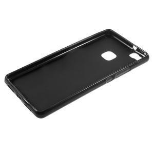 Matný gelový obal na mobil Huawei P9 lite - černý - 5