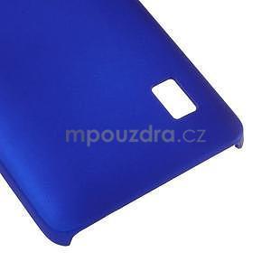 Modrý pogumovaný plastový kryt na Huawei Y635 - 5