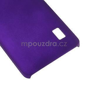 Fialový pogumovaný plastový kryt na Huawei Y635 - 5