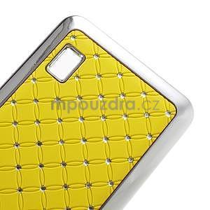 Drahokamový plastový kryt na Huawei Y635 - žlutý - 5