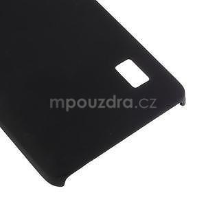 Černý pogumovaný plastový kryt na Huawei Y635 - 5