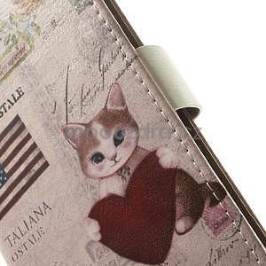 Peněženkové pouzdro pro Samsung Galaxy A3 - americké srdce - 5