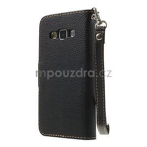 Černé/hnědé PU kožené pouzdro na Samsung Galaxy A3 - 5