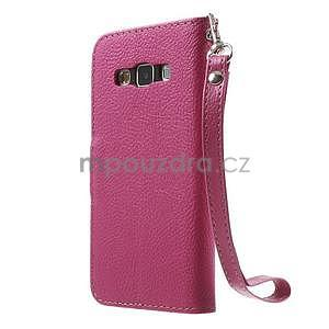 Rose/hnědé PU kožené pouzdro na Samsung Galaxy A3 - 5