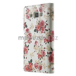 Peněženkové zapínací pouzdro na Samsung Galaxy A5 - růže elegant - 5