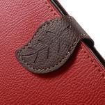 Červené/hnědé PU kožené pouzdro na Samsung Galaxy A5 - 5/7