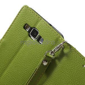 Zelené/hnědé PU kožené pouzdro na Samsung Galaxy A5 - 5