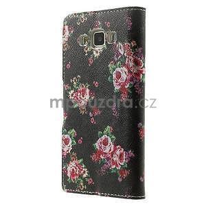 Peněženkové zapínací pouzdro na Samsung Galaxy A5 - růže - 5
