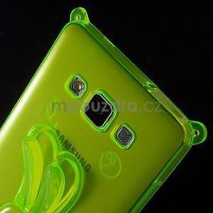 Zelený gelový obal s nastavitelným stojánkem na Samsung Galaxy A5 - 5