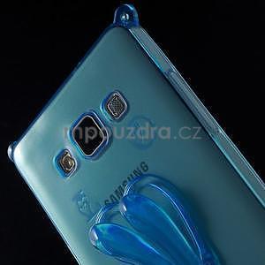 Modrý gelový obal s nastavitelným stojánkem na Samsung Galaxy A5 - 5
