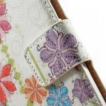 Peněženkové zapínací pouzdro na Samsung Galaxy A5 - barevné květiny - 5/7