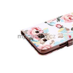 Květinové peněženkové pouzdro na Samsung Galaxy A5 - bílé - 5