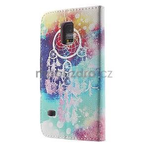 Zapínací peněženkové pouzdro na Samsung Galaxy S5 mini - snění - 5