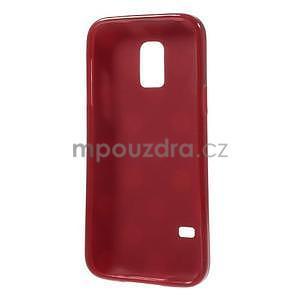 Červený puntíkatý gelový obal na Samsung Galaxy S5 mini - 5