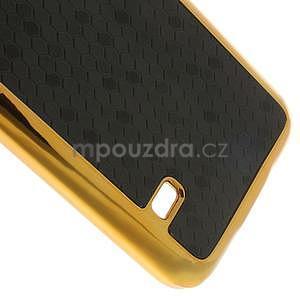 Černé elegantní plastové pouzdro se zlatým lemem na Samsung Galaxy S5 mini - 5