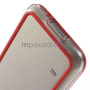 Červený gelový kryt s plastovými lemy na Samsung Galaxy S5 mini - 5