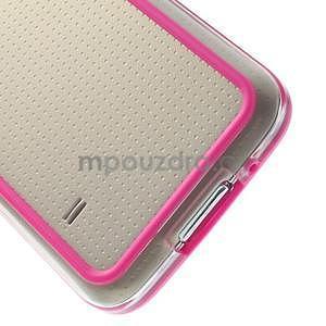 Rose gelový kryt s plastovými lemy na Samsung Galaxy S5 mini - 5