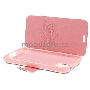 Růžové zapínací pouzdro na Samsung Galaxy S5 mini - 5