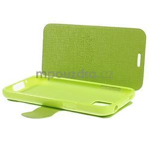 Zelené zapínací pouzdro na Samsung Galaxy S5 mini - 5