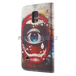 Zapínací peněženkové pouzdro na Samsung Galaxy S5 mini - oko - 5