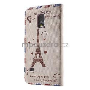 Zapínací peněženkové pouzdro na Samsung Galaxy S5 mini - Eiffelova věž - 5