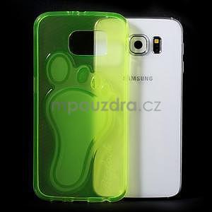 Protiskluzový gelový kryt na Samsung Galaxy S6 - zelený - 5