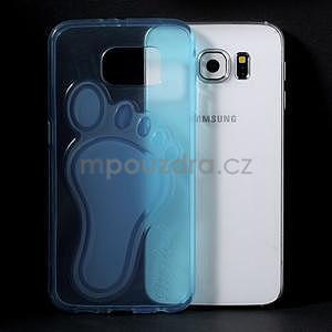Protiskluzový gelový kryt na Samsung Galaxy S6 - modrý - 5
