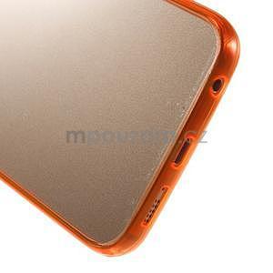 Oranžový hybridní gelový obal na Samsung Galaxy S6 Edge - 5