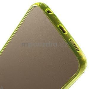 Světle žlutý hybridní gelový obal na Samsung Galaxy S6 Edge - 5