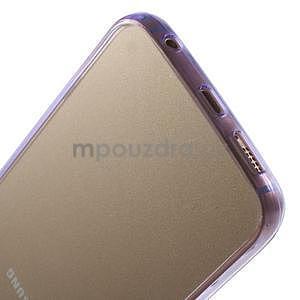 Fialový hybridní gelový obal na Samsung Galaxy S6 Edge - 5