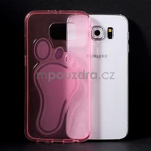 Protiskluzový gelový kryt na Samsung Galaxy S6 - rose - 5