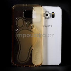 Protiskluzový gelový kryt na Samsung Galaxy S6 - zlatý - 5