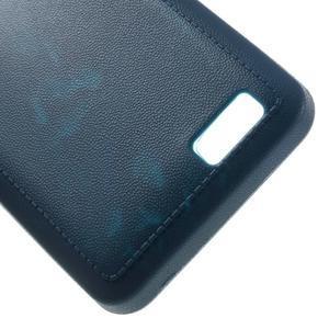 Vroubkovaný gelový obal na mobil Lenovo A319 - tmavěmodrý - 5
