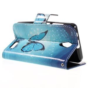 Styles peněženkové pouzdro na mobil Lenovo A319 - modrý motýl - 5