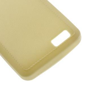 Vroubkovaný gelový obal na mobil Lenovo A319 - žlutý - 5