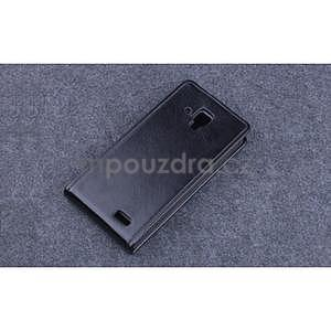 PU kožené flipové pouzdro na Lenovo A536 - černé - 5