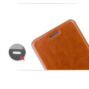 Moof PU kožené pouzdro na mobil Lenovo S90 - hnědé - 5