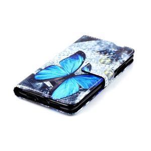 Style peněženkové pouzdro na mobil Lenovo S90 - modrý motýl - 5